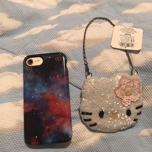 Hello Kitty Bags - Sanrio Hello Kitty sequined coin purse